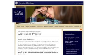 Application Process | School of Social Work | University of Pittsburgh