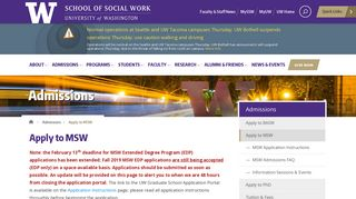 Apply to MSW | School of Social Work