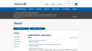 mychart login? - Search Results | MultiCare
