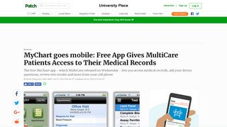 MyChart goes mobile: Free App Gives MultiCare Patients Access to ...