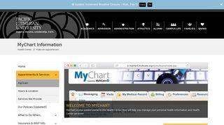 MyChart Information | Health Center | PLU