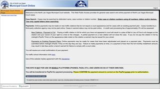 Search and Pay for Municipal Court Cases Online - City of North Las ...