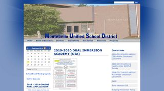 Montebello Unified School District: Home Page
