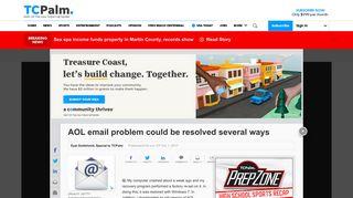 ways to fix AOL email problem - TCPalm.com