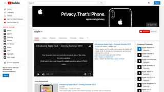 Apple - YouTube