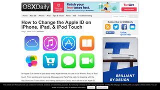 How to Change the Apple ID on iPhone, iPad, & iPod Touch - OSXDaily