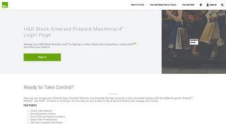 Emerald Card® Login Page | H&R Block®