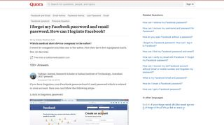 I forgot my Facebook password and email password. How can I log ...