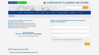 MyFlex - Corporate Planning Network