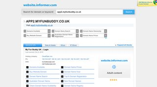 app2.myfunbuddy.co.uk at WI. My Fun Buddy UK :: Login