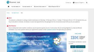 IBM :: Pearson VUE