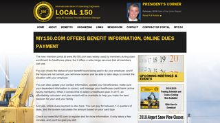 My150.com Offers Benefit Information, Online Dues Payment   IUOE ...