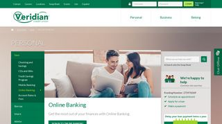 Online Banking - Accounts and Services – Personal Banking - Veridian