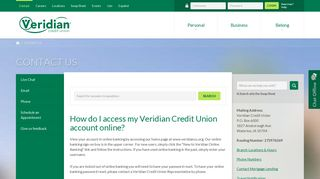 How do I access my Veridian Credit Union account online? - Veridian