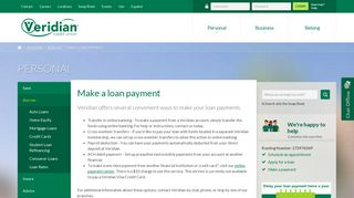 Make A Loan Payment – Lending and Borrowing – Personal - Veridian