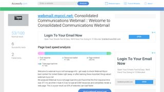 Access webmail.mycci.net. Consolidated Communications Webmail ...