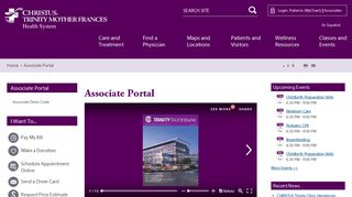 Associate Portal - CHRISTUS Trinity Mother Frances Health System