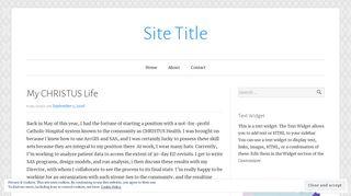 My CHRISTUS Life – Site Title - Blog post title - WordPress.com