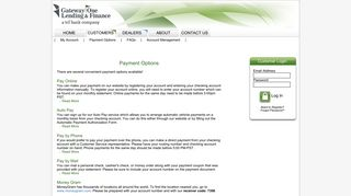 Payment Options - Gateway One Lending & Finance - Customers