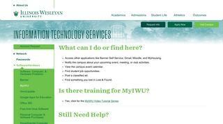 Illinois Wesleyan: MyIWU Faculty, Staff and Student Portal