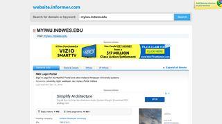 myiwu.indwes.edu at WI. IWU Login Portal - Website Informer