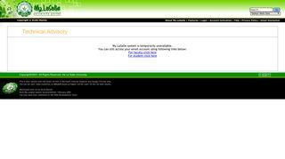 My.LaSalle University Portal : User Login - De La Salle University
