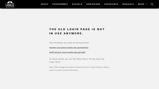Login | LASALLE College of the Arts