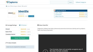 Identifix Reviews and Pricing - 2019 - Capterra