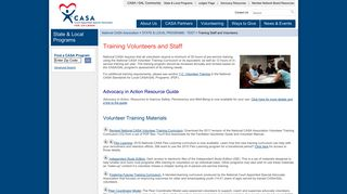 Training Staff and Volunteers - National CASA - CASA for Children