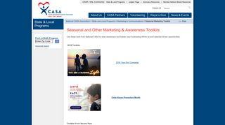 Seasonal Marketing and Awareness Toolkits - National CASA - CASA ...