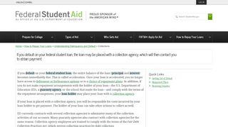Collections - Federal Student Aid - ED.gov
