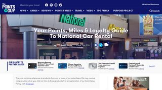 Your Points, Miles & Loyalty Guide To National Car Rental