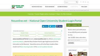 Nouonline.net – National Open University Student Login Portal