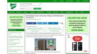 New National Open University of Nigeria (NOUN)Student Portal 2019