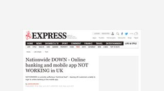 Nationwide DOWN - Online banking and mobile app NOT WORKING ...