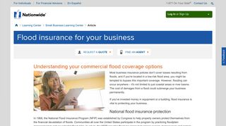 Commercial Flood Insurance - Nationwide
