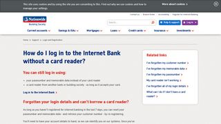 How do I log in without a card reader? | Nationwide