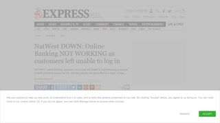 NatWest DOWN: Online Banking NOT WORKING as customers left ...