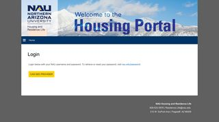 Login - the Housing Portal