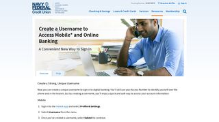 Username Overview and FAQs   Navy Federal Credit Union