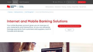 Internet and Mobile Banking Solutions | National Bank