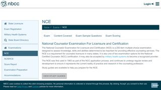 NCE | NBCC