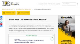 Free National Counselor Exam (NCE) Review – Test Taking Tips