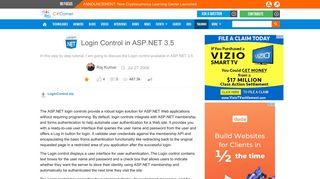 Login Control in ASP.NET 3.5 - C# Corner