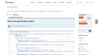 How to use asp.net login control - General Discussions - General ...