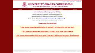 University Grants Commission - NET