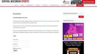 Brackets - Central Wisconsin Sports
