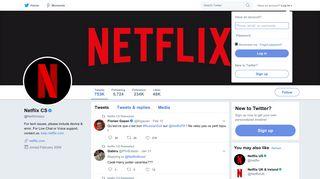 Netflix CS (@Netflixhelps) | Twitter