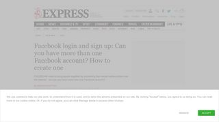 Facebook login and sign up: Can you have more than one account ...
