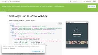 Google Sign-In for Websites | Google Developers